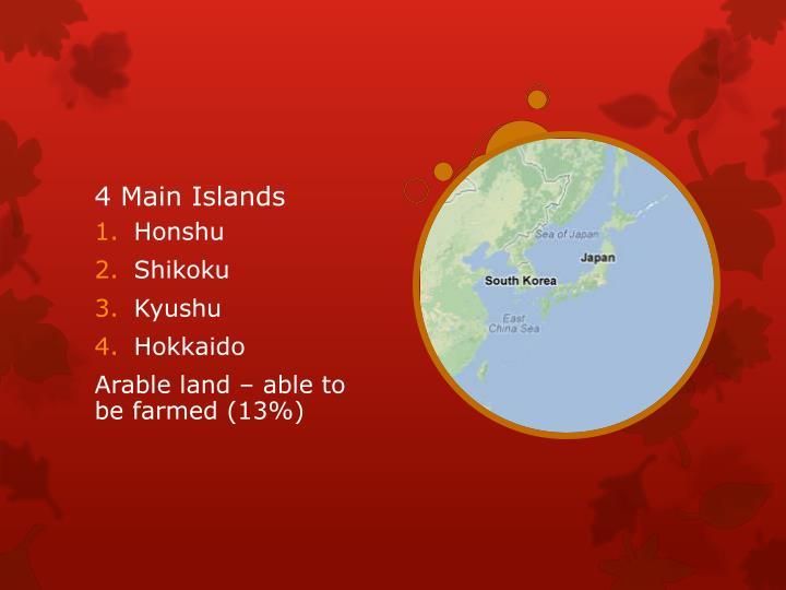 4 Main Islands