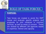 role of task forces
