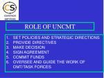 role of uncmt