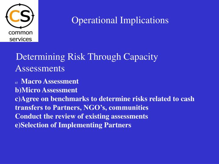 Operational Implications