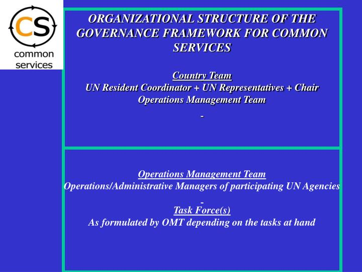ORGANIZATIONAL STRUCTURE OF THE