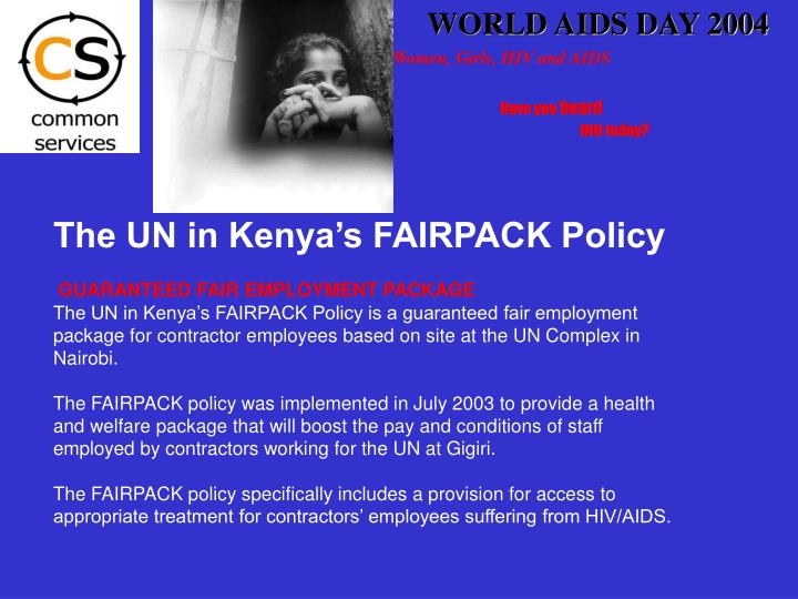WORLD AIDS DAY 2004
