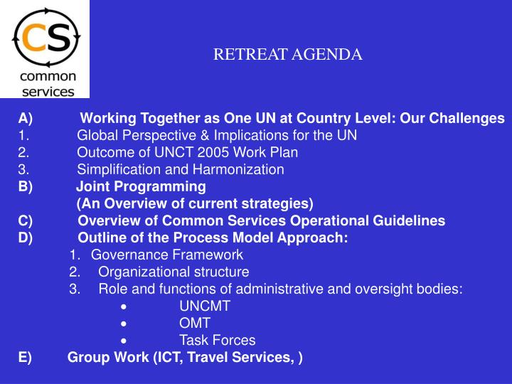RETREAT AGENDA