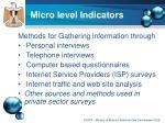 micro level indicators
