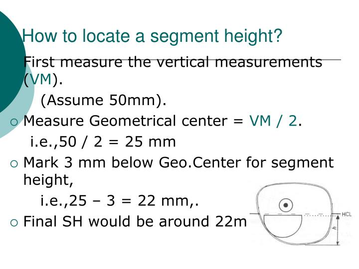 How to locate a segment height?