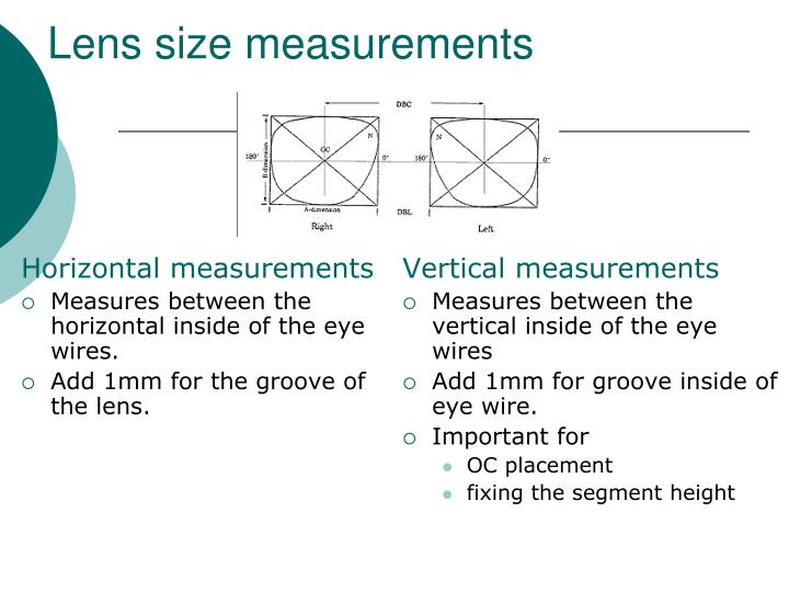 Horizontal measurements