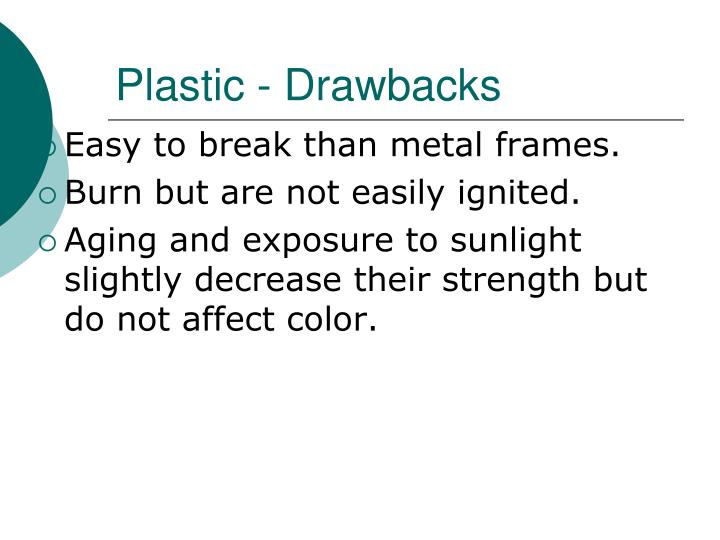Plastic - Drawbacks