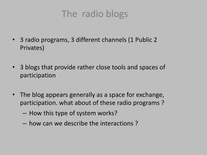 The  radio blogs