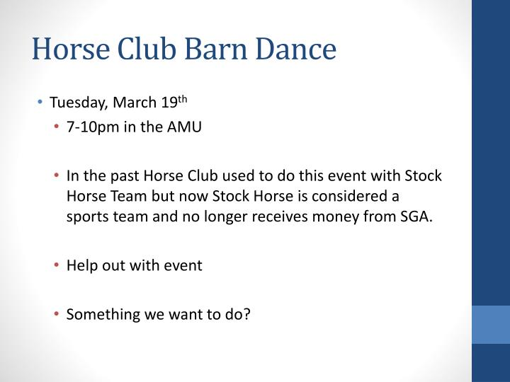 Horse Club Barn Dance