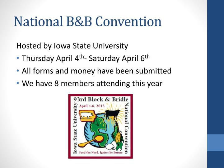 National B&B Convention