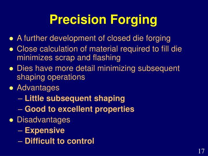 Precision Forging