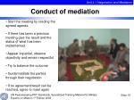 conduct of mediation