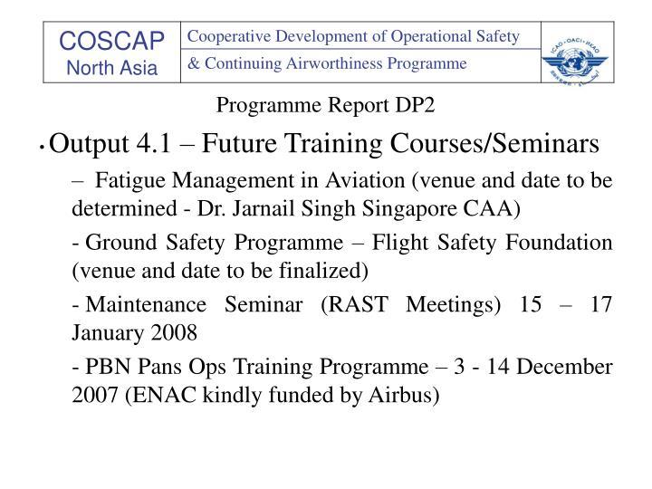 Programme Report DP2