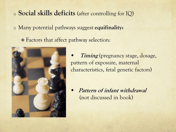 Social skills deficits