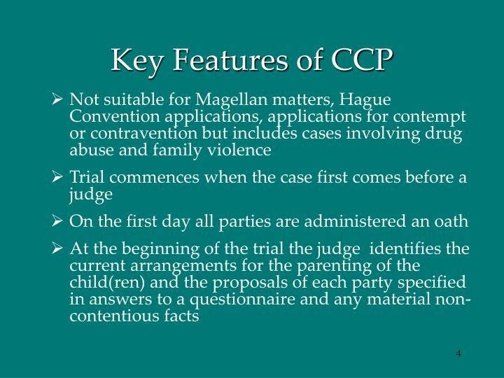 Key Features of CCP