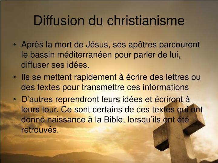 Diffusion du christianisme