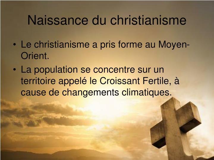 Naissance du christianisme