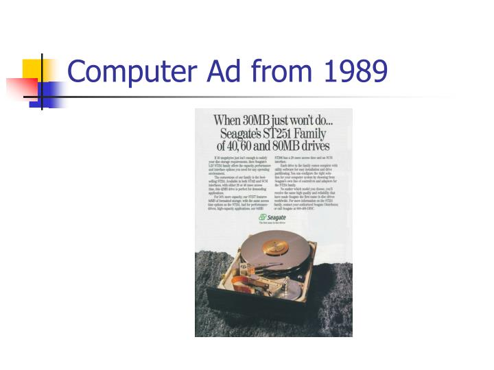 Computer Ad from 1989
