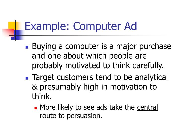 Example: Computer Ad