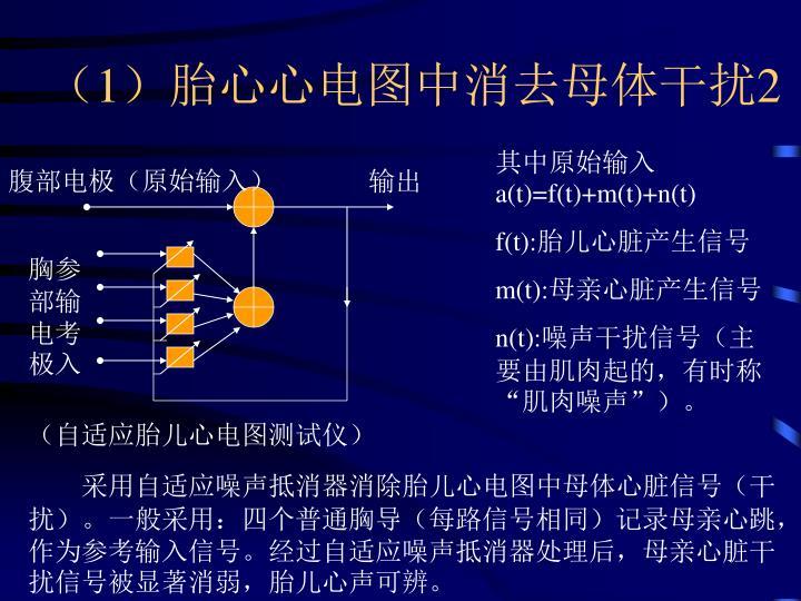 (1)胎心心电图中消去母体干扰2