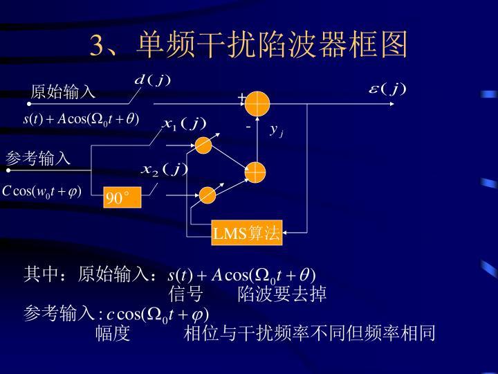 3、单频干扰陷波器框图