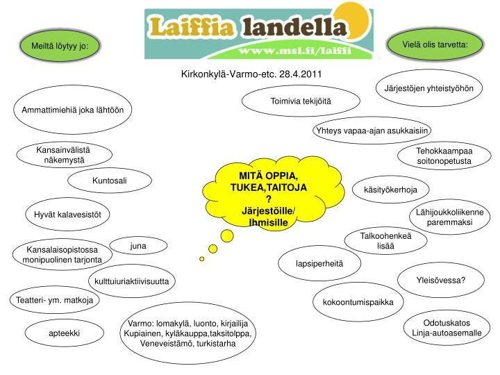 Kirkonkylä-Varmo-etc. 28.4.2011