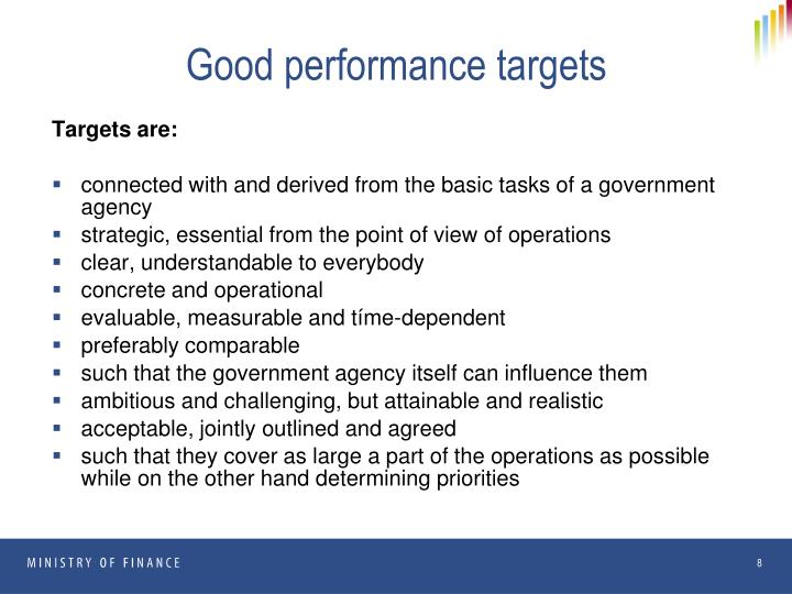 Good performance targets