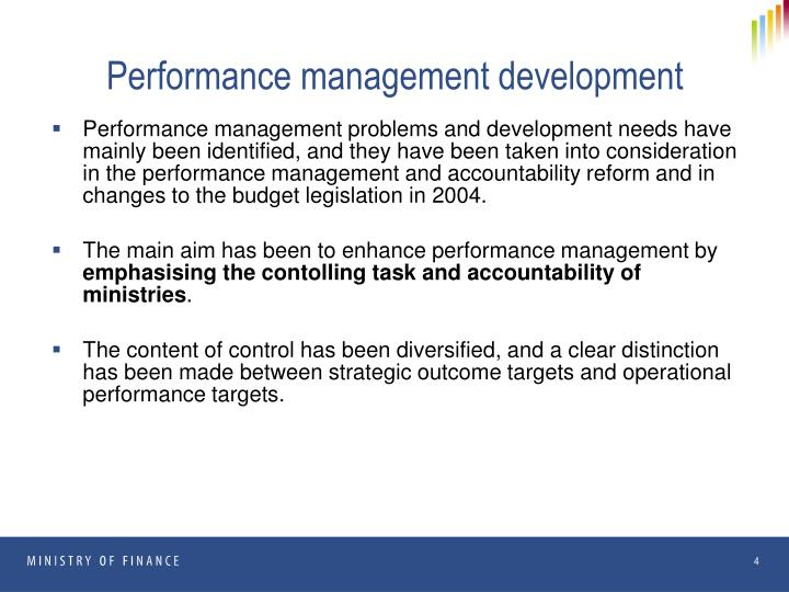 Performance management development