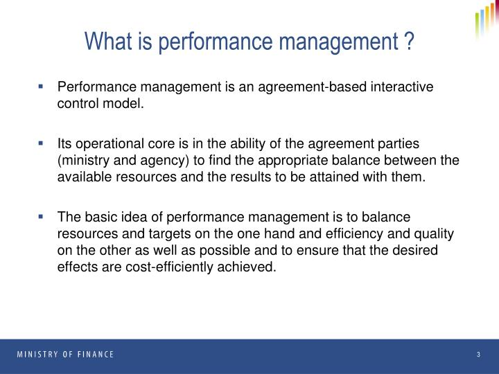 What is performance management ?