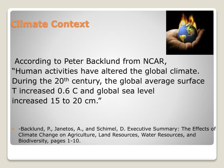 According to Peter Backlund from NCAR,