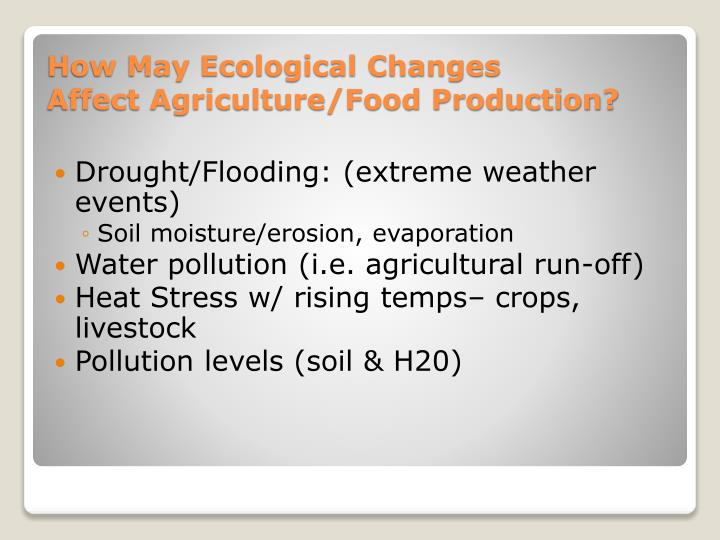 Drought/Flooding: (extreme weather events)