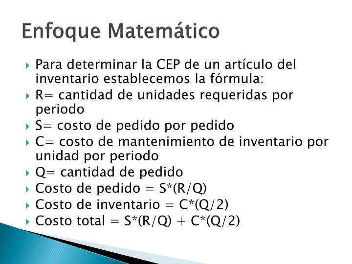 Enfoque Matemático