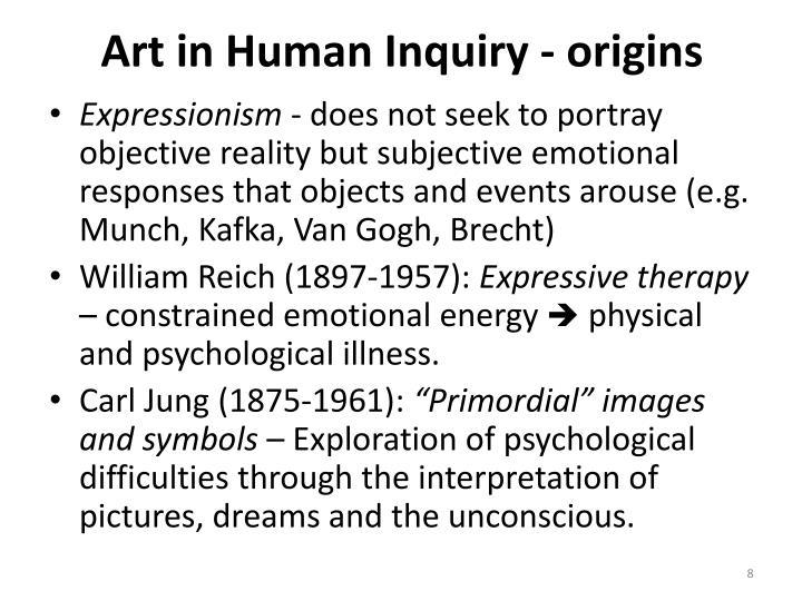 Art in Human Inquiry - origins