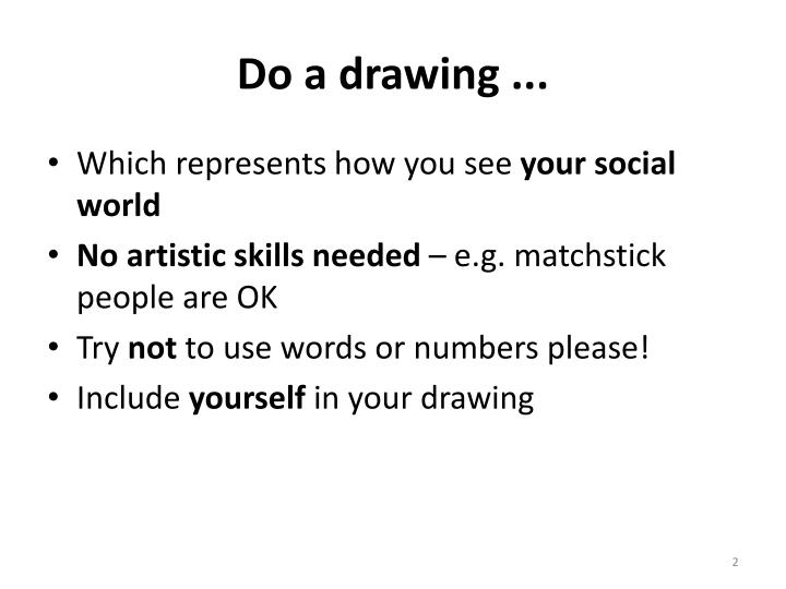 Do a drawing