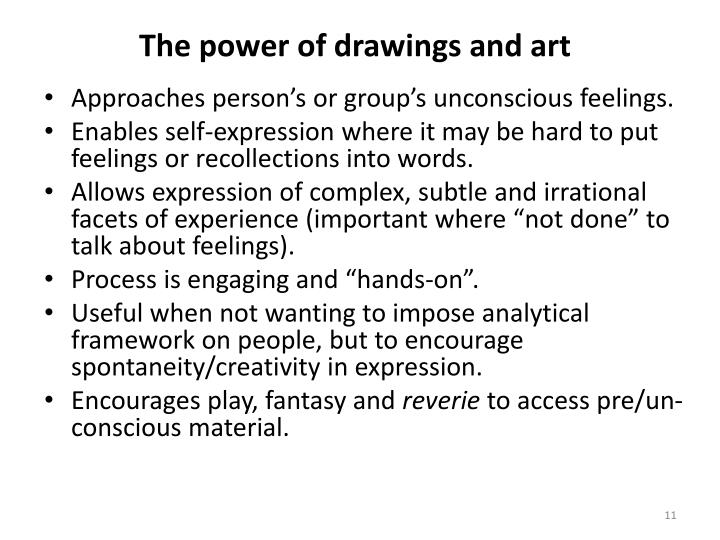 The power of drawings and art