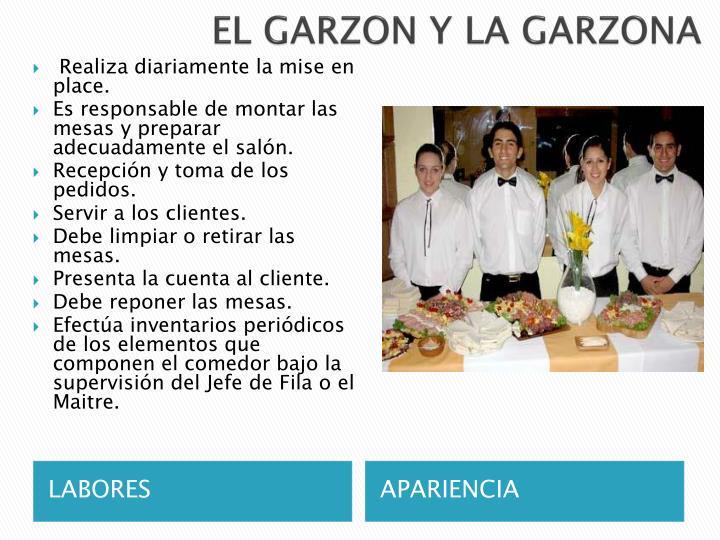 EL GARZON Y LA GARZONA