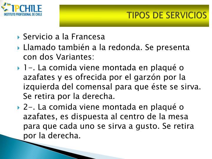 TIPOS DE SERVICIOS
