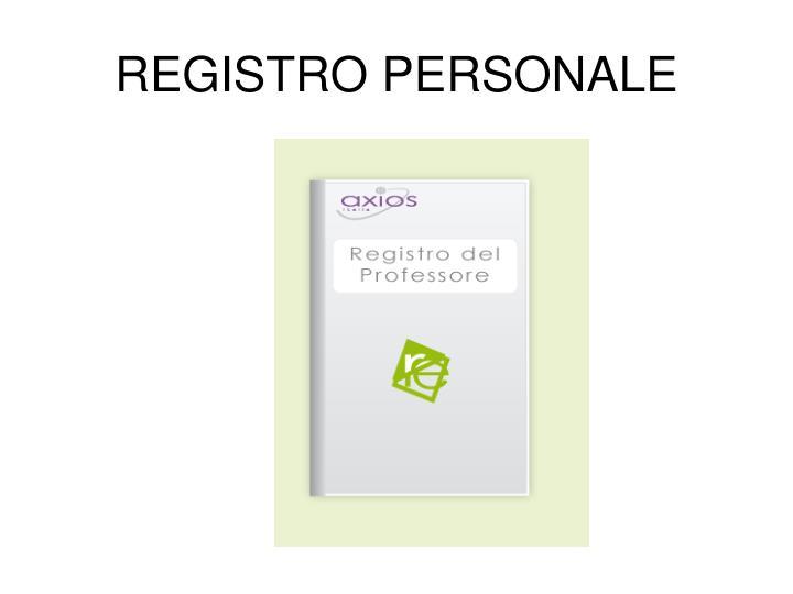 REGISTRO PERSONALE