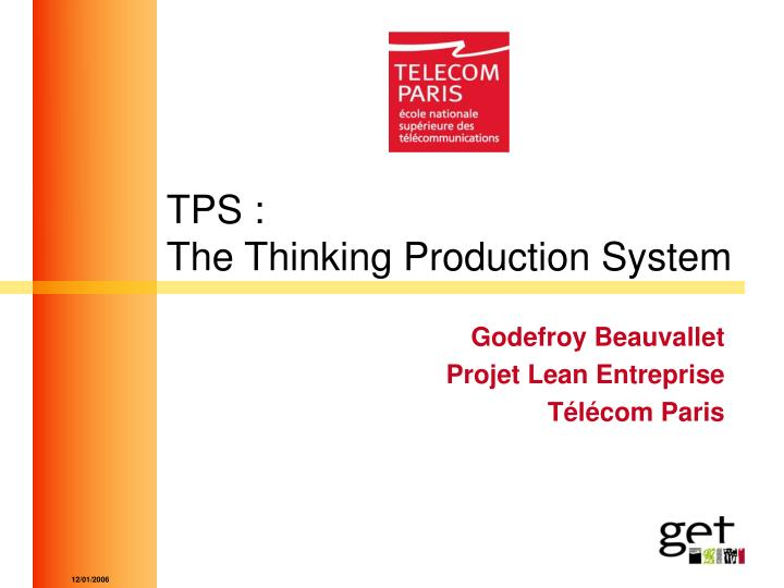 Tps the thinking production system