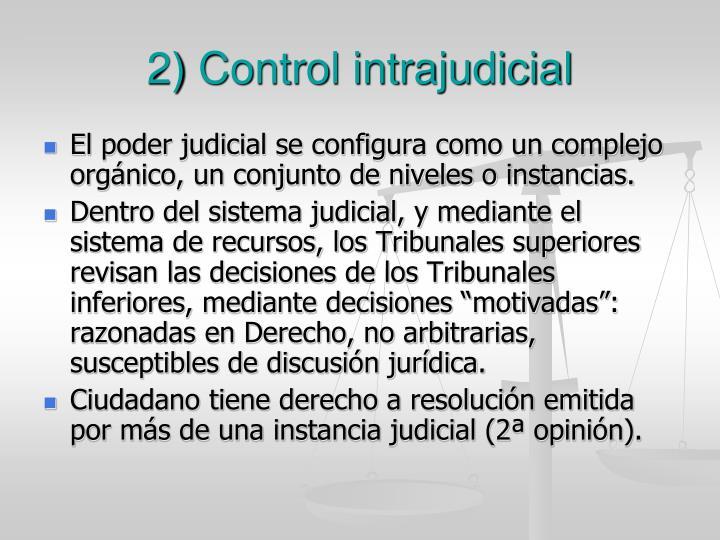 2) Control intrajudicial