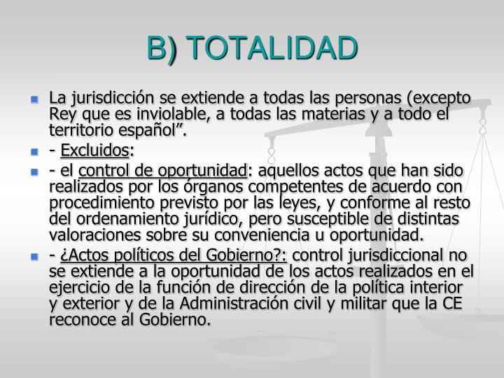 B) TOTALIDAD