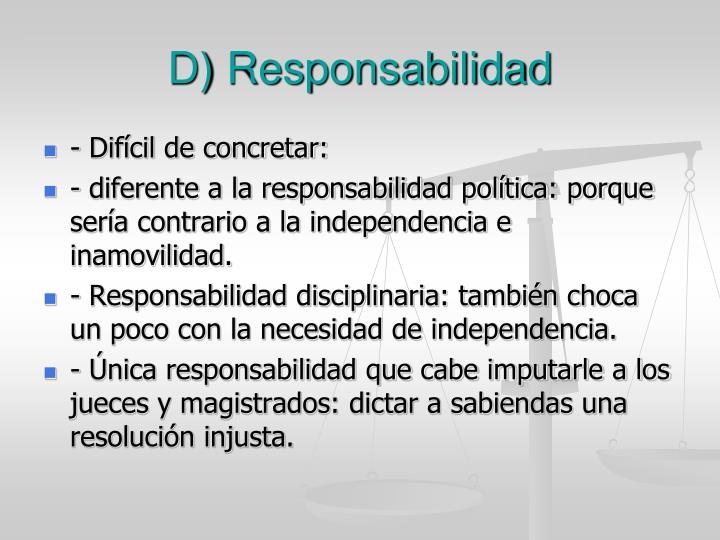 D) Responsabilidad