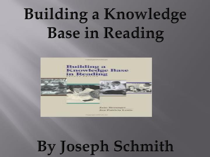 Building a Knowledge