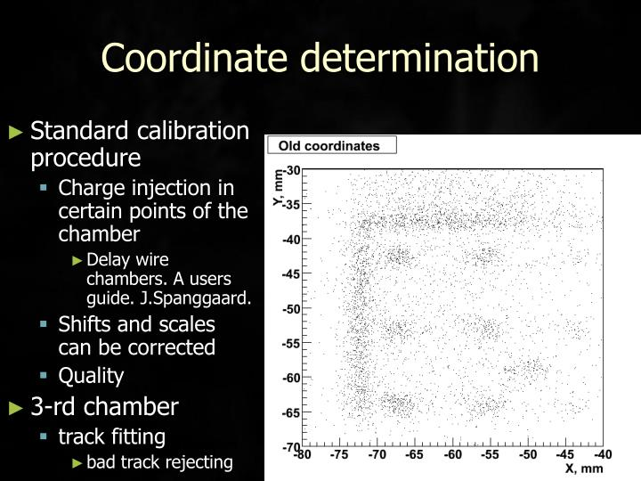 Coordinate determination
