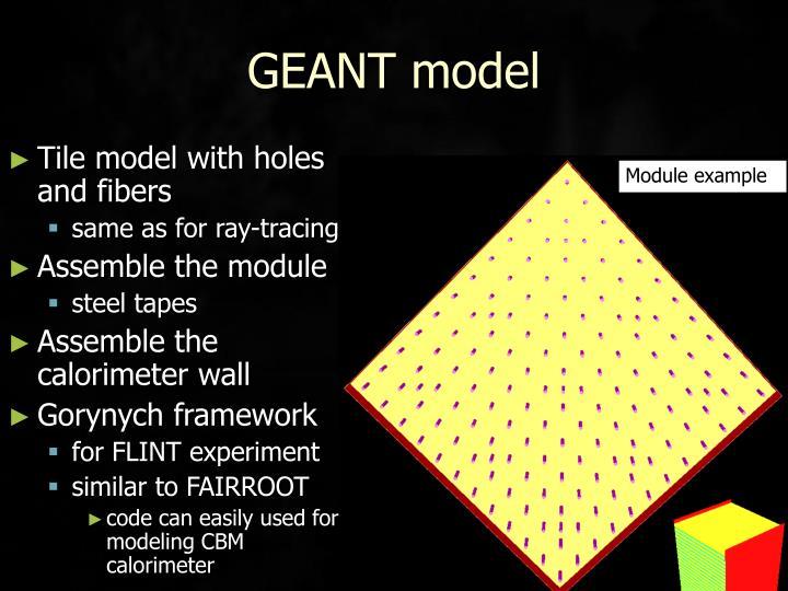 GEANT model