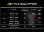 light yield measurements1