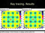 ray tracing results