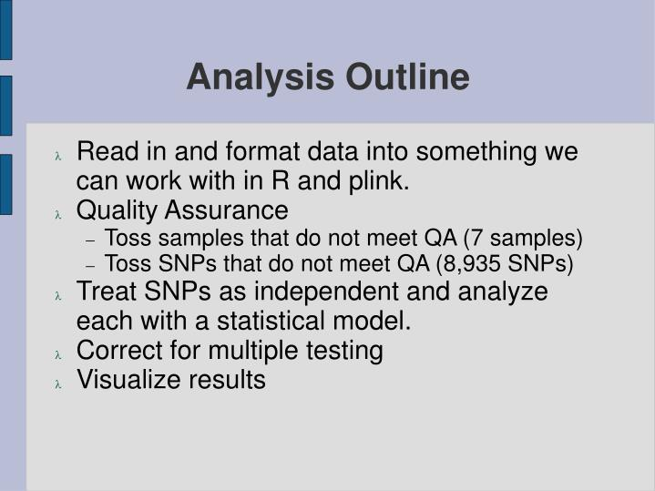 Analysis Outline