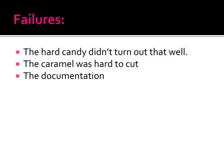 Failures: