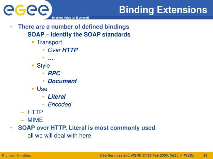 Binding Extensions